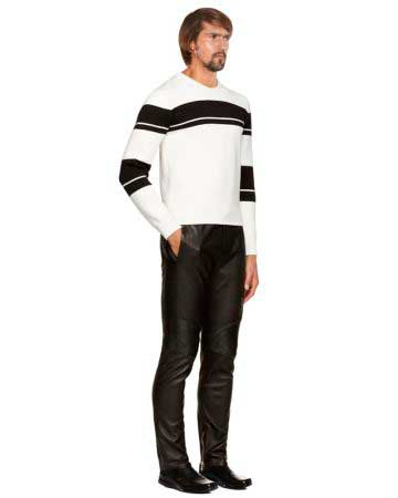 BLACK-LEATHER-PANTS-WITH-RIBBED-PANEL-full-3