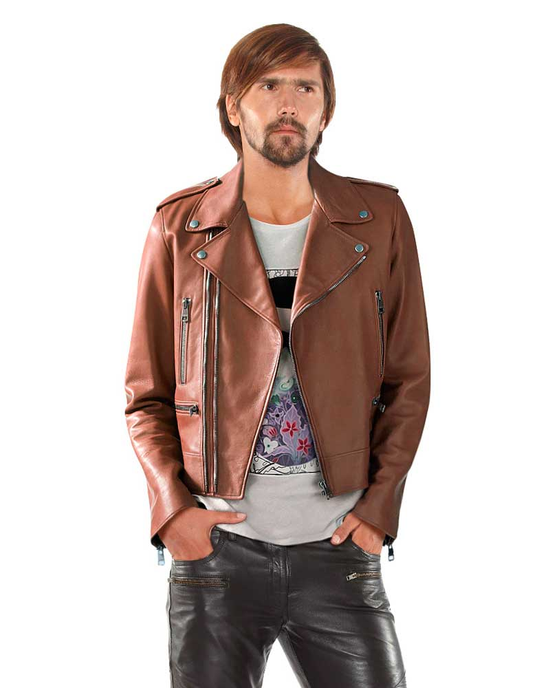 CAMEL-LAMBSKIN-LEATHER-BIKER-JACKET-4