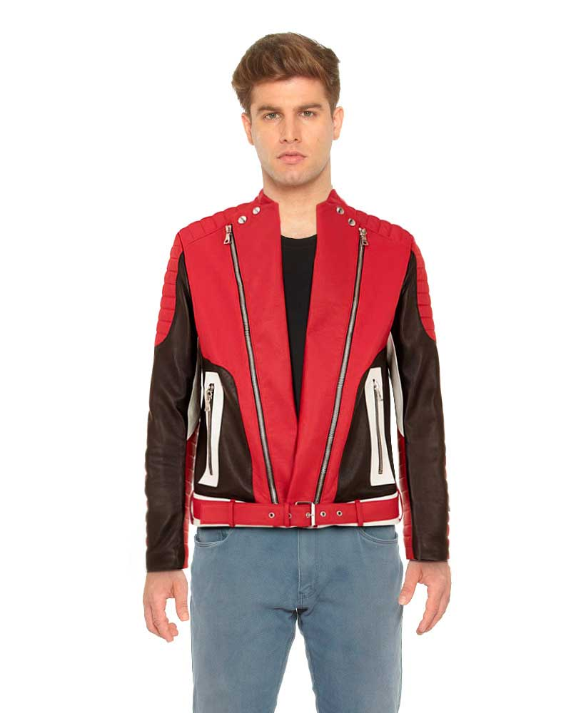 RED-LEATHER-BIKER-JACKET-WITH-COLOR-BLOCKED-TRIMS-front