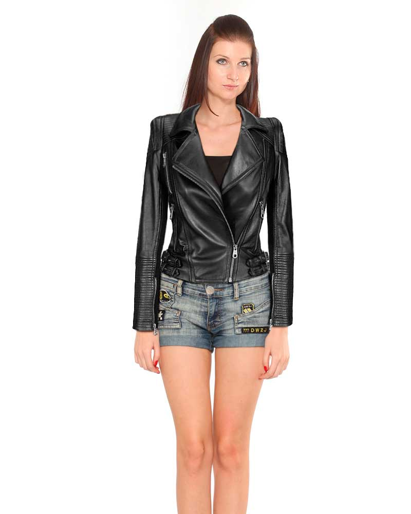 Womens-Black-Leather-Motorcycle-Jacketfront-3