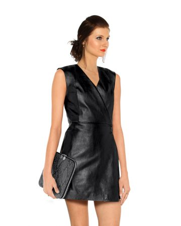 wrap-effect-leather-dress-front-3