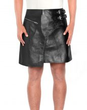 BLACK-LAMB-LEATHER-KILT-WITH-SIDE-BUCKLED-TABS-front-2