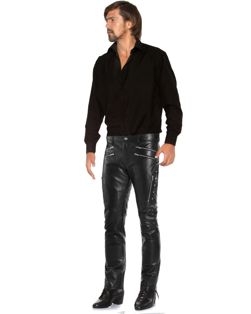 BLACK-LEATHER-PANTS-WITH-STUD-EMBELLISHMENTS-full-2