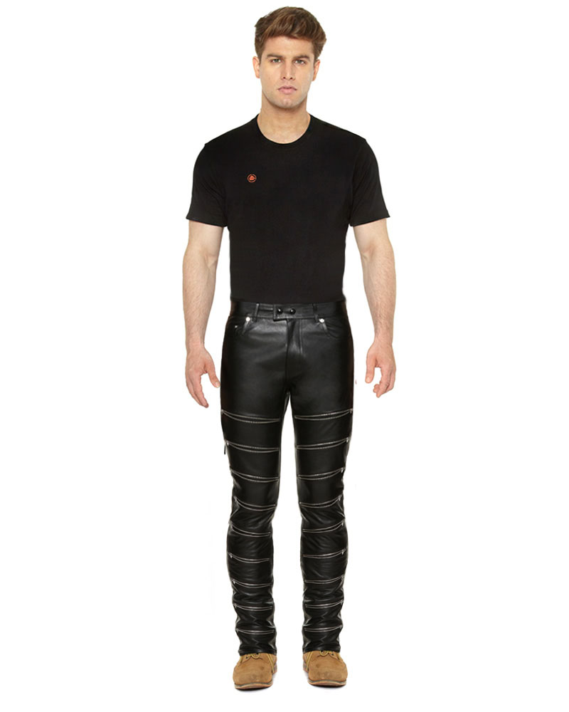 BLACK-LEATHER-TROUSER-WITH-ZIPPER-EMBELLISHMENTS-full-2