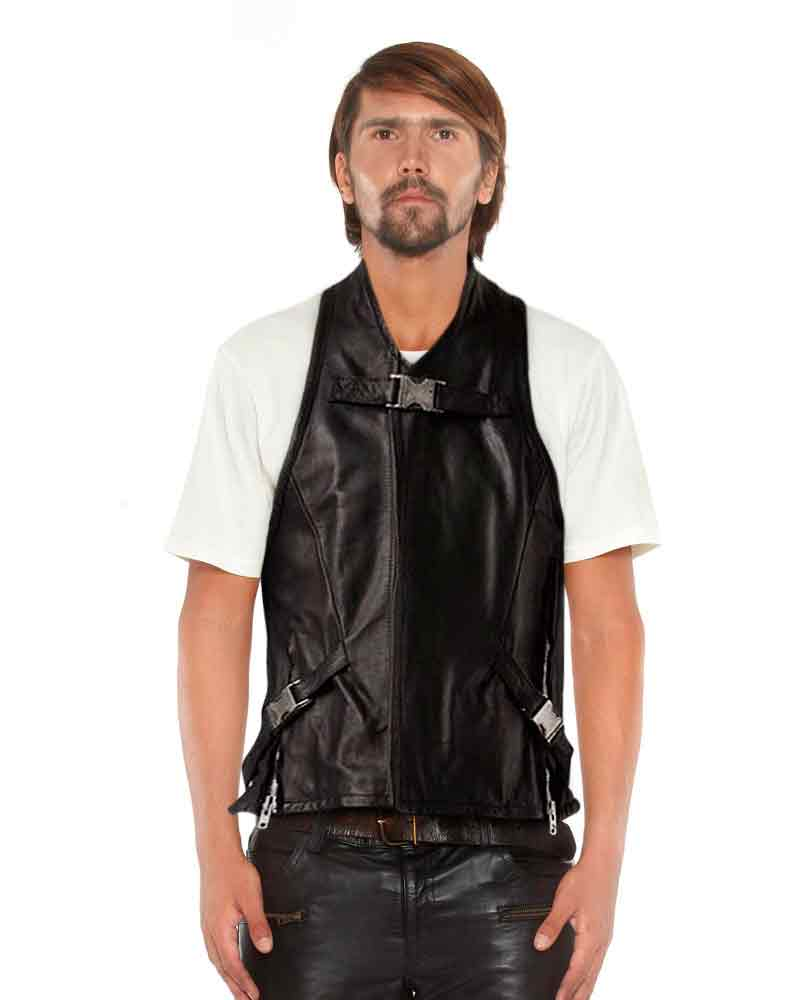 BLACK-LEATHER-VEST-WITH-BUCKLE-HARNESS-front-3