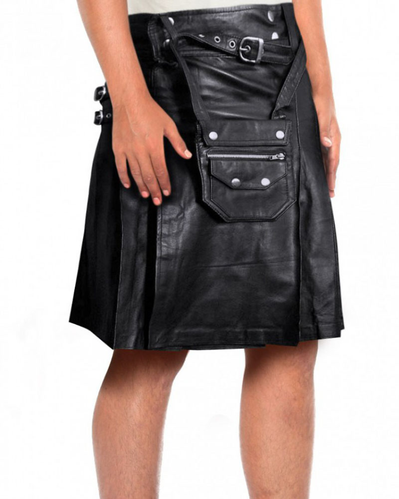 BLACK-PLEATED-KILT-WITH-POUCH-BELT-front-e1439801747237-2