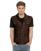 BROWN-SUEDE-VEST-WITH-RIBBED-COLLAR-front-3