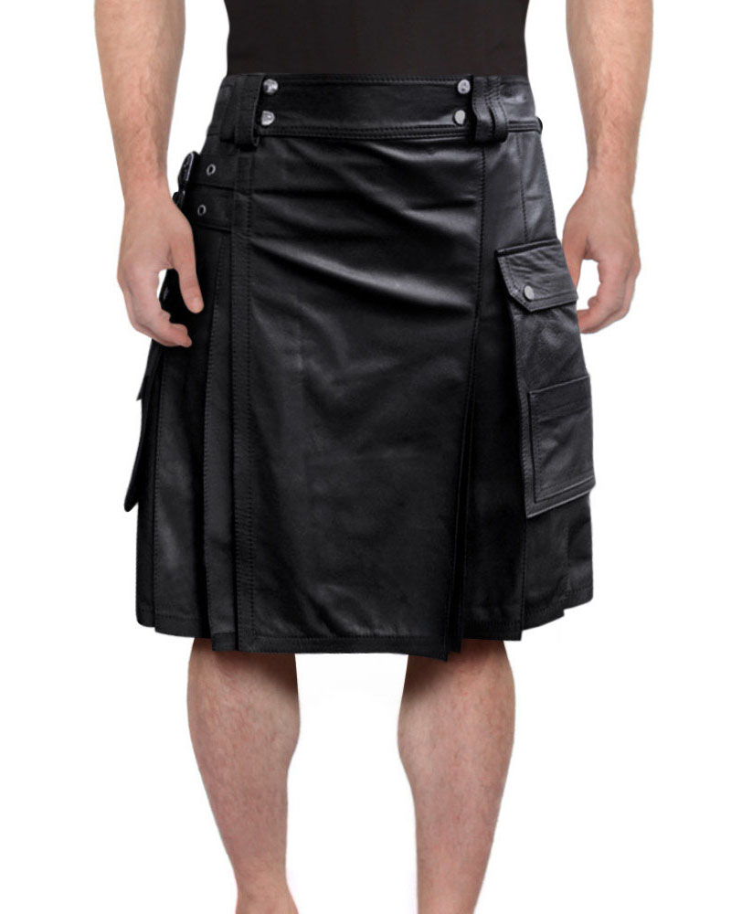 LEATHER-KILT-WITH-TWIN-CARGO-POCKETS-front-2