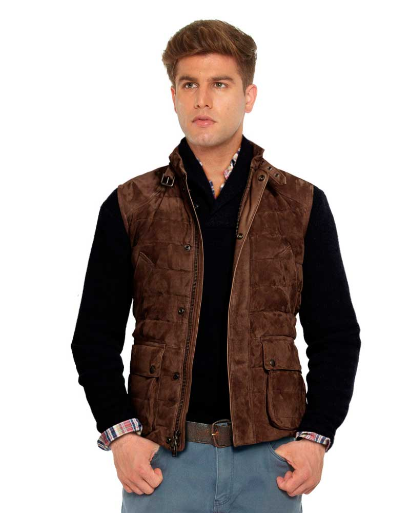 QUILTED-SUEDE-VEST-WITH-BUCKLED-COLLAR-BELT-front-3