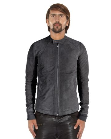 SUEDE-GREY-JACKET-WITH-BAND-COLLAR-front-1