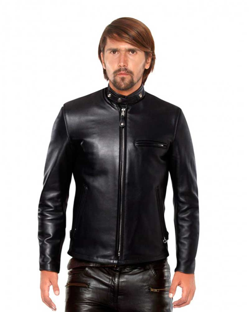 BLACK-LEATHER-JACKET-WITH-BUTTONED-THROAT-TAB-front-e1441437325966-1