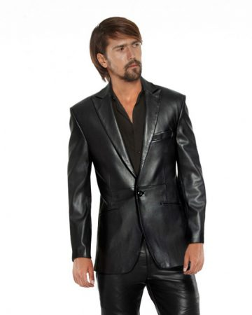 ONE-BUTTONED-LAMBSKIN-LEATHER-BLACK-BLAZER_-front-e1445230721796-1