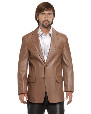TWO-BUTTONED-LAMBSKIN-LEATHER-BLAZER-front-2-e1445235698978-1