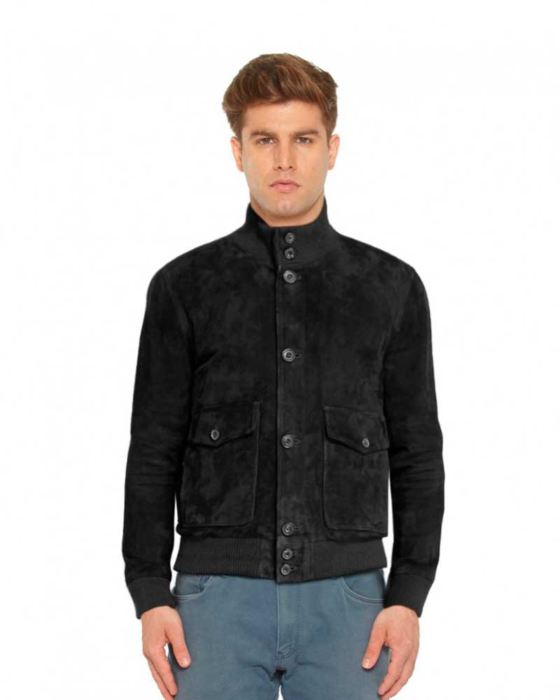 SUEDE-BOMBER-JACKET-WITH-HIGH-NECK-COLLAR-front-e1448097841687-1