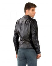 Classy Slim Fit Black Leather Moto Jacket