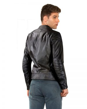 Classy Slim Fit Black Leather Moto Jacket