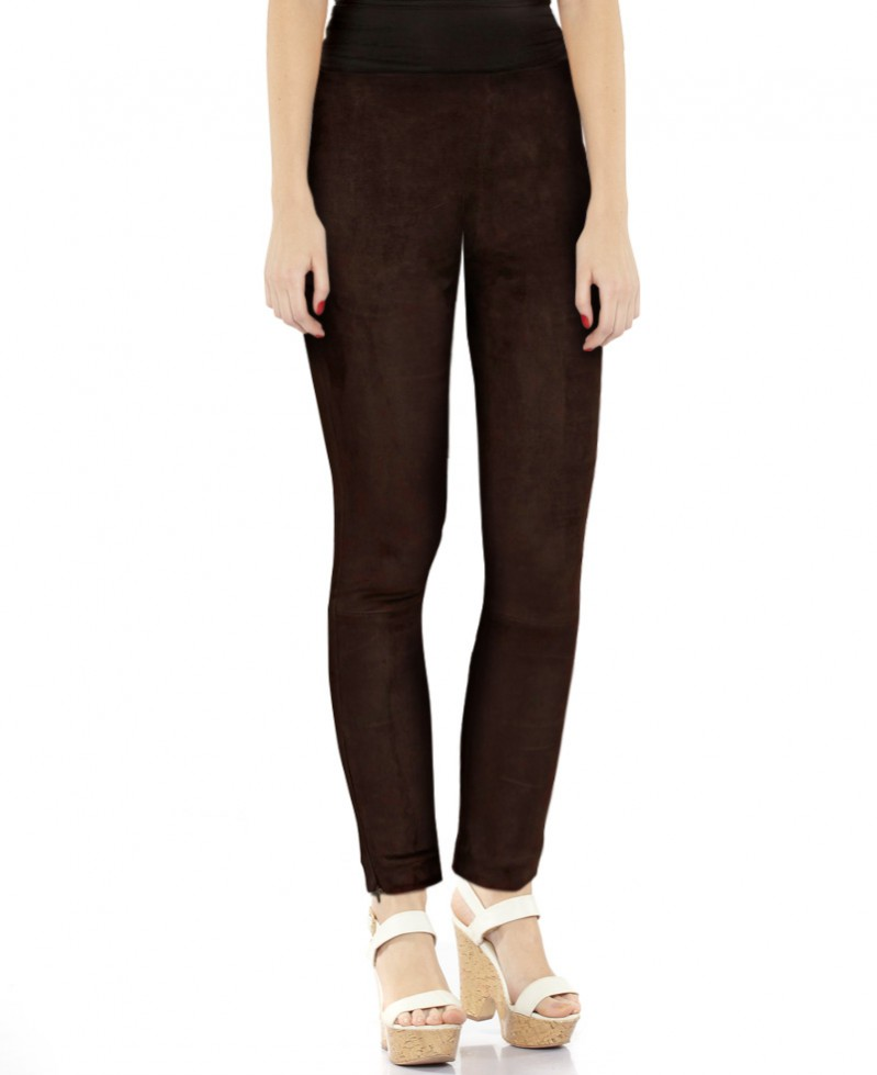 41584d3d4afc6 Womens Brown Suede Pants with Ankle Zippers – Custom Leather Store ...