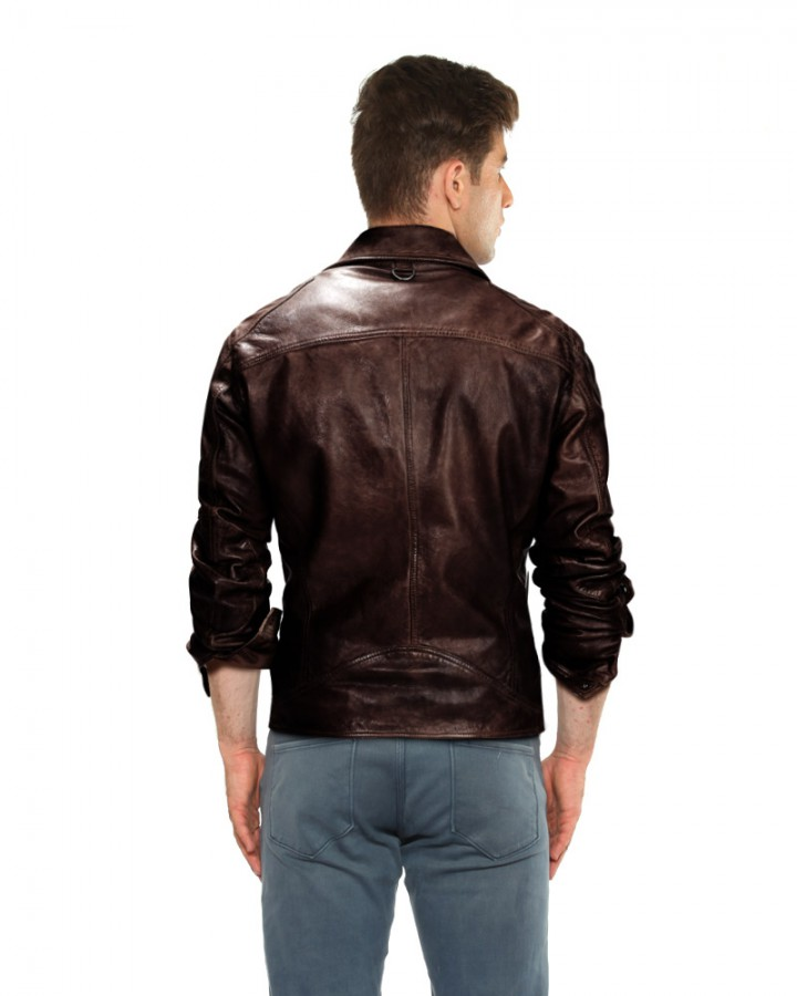 Chocolate Brown Leather Jacket for Men Online– LeatherRight