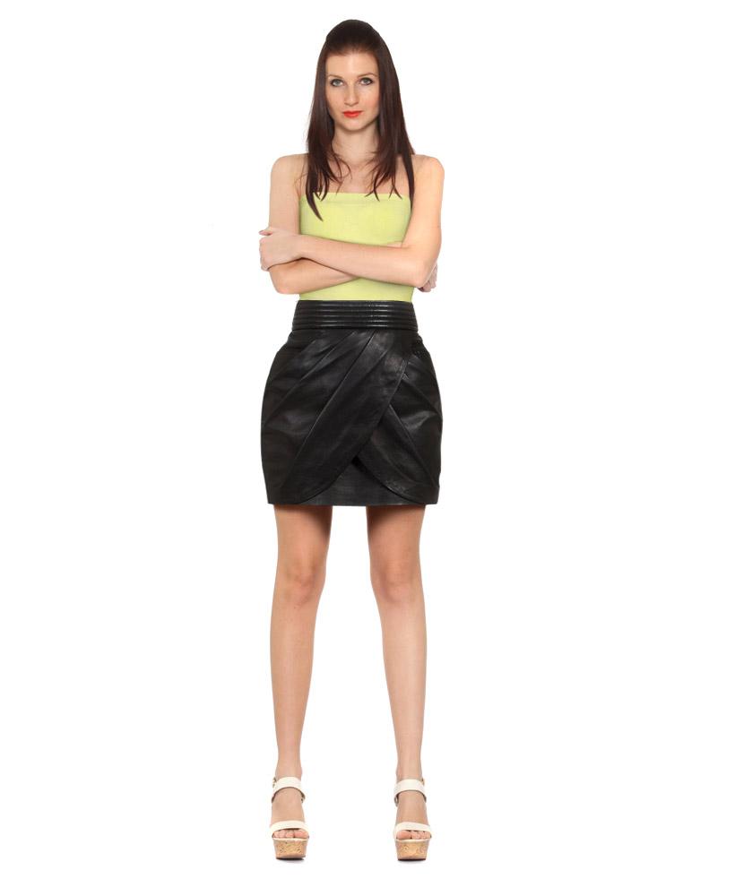 black leather midi skirt for at leatherright