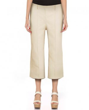 Womens Leather Straight Fit Culottes