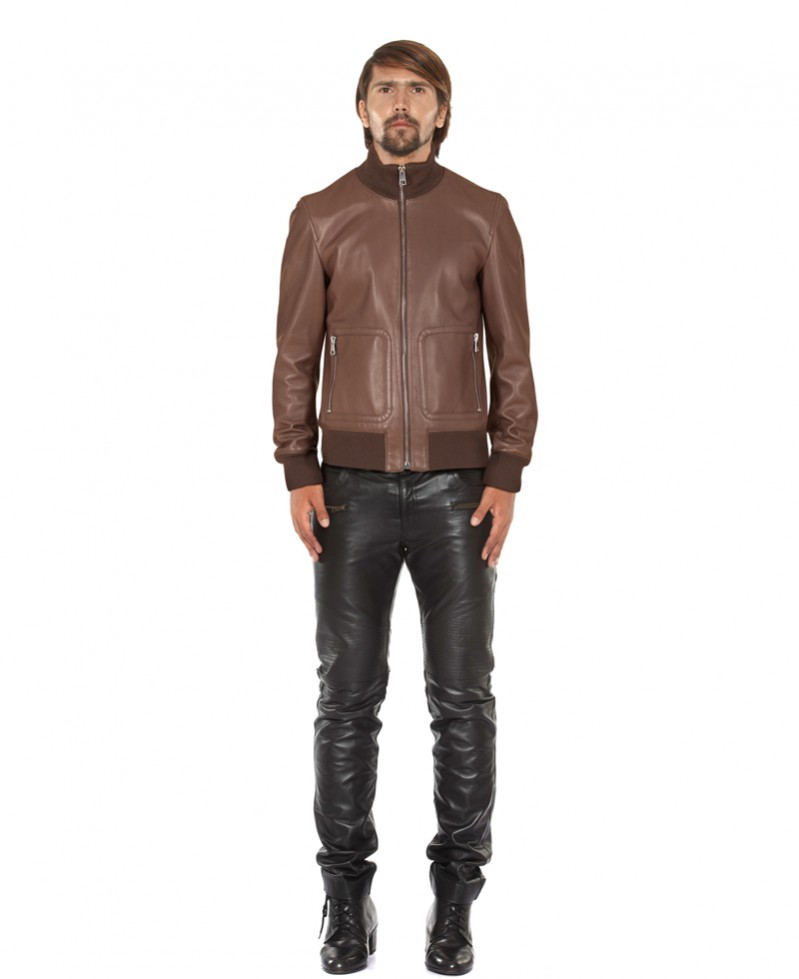 Boys Bomber Leather Jacket Online - LeatherRight