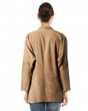 Womens Kimono Style Suede Blazer