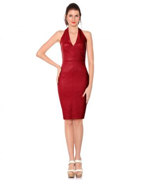 Womens Beautiful Halter Neck Bodycon Dress