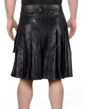 Modern Leather Kilts for Men with Wrap-Around Style