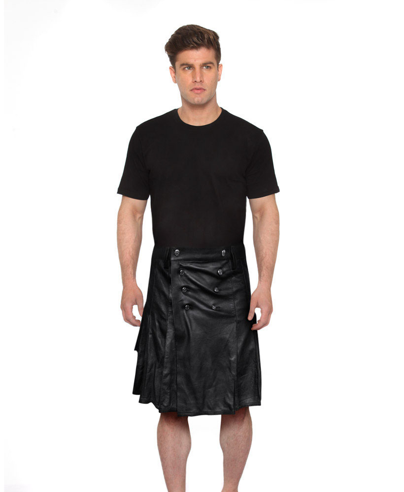 16dfb4aa9a9 Modern Leather Kilts for Men with Wrap-Around Style – Custom Leather ...