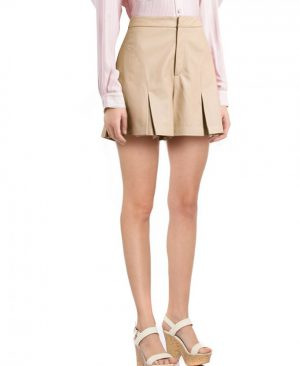 Stylish Pleated Leather Shorts for Women