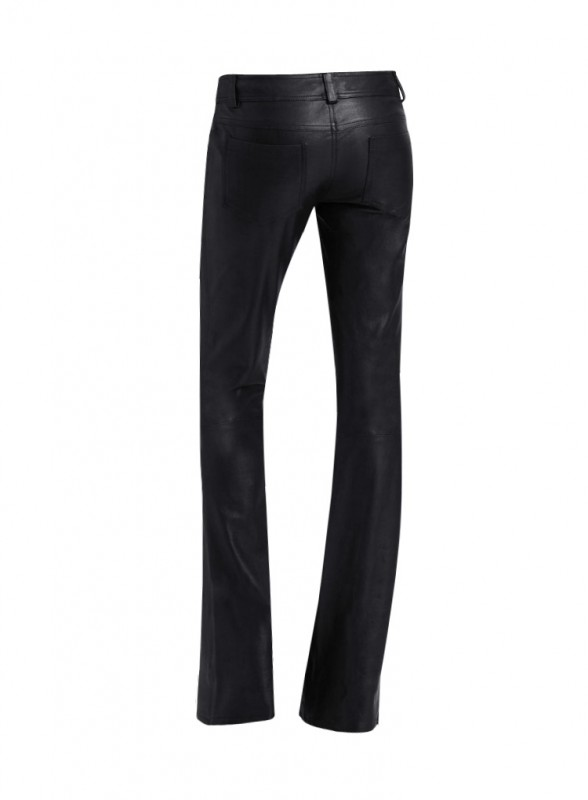 Womens Boot Cut Black Leather Halloween Pant Custom