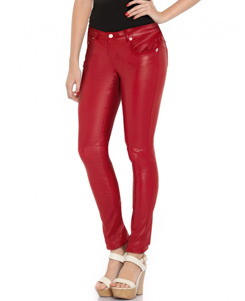70604943f8bb8 Women Skinny Low Waist Leather Pants – Custom Leather Store – Buy ...