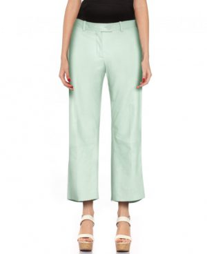 Womens Cropped Leather Pant
