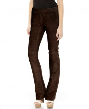 Womens Suede Flared Pant