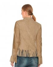 Fringed Suede Blazer for Women
