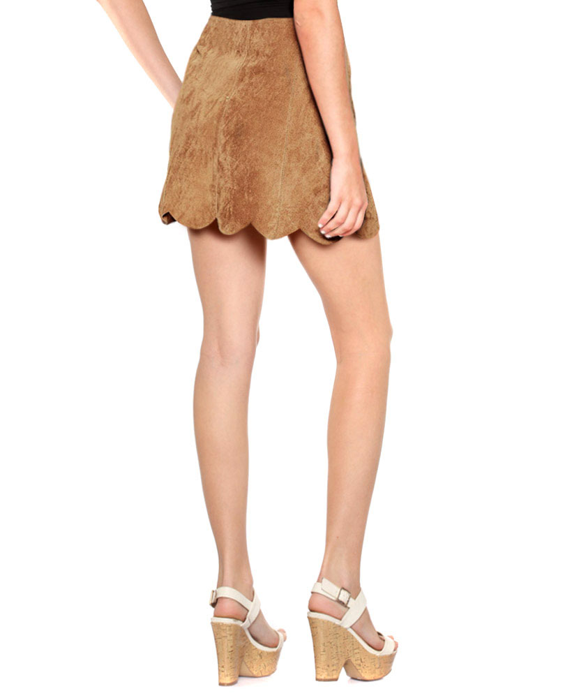 High Waisted Suede Skirts for Women at LeatherRight