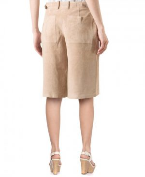 Womens Wide Leg Culottes with Zip Fly Closure