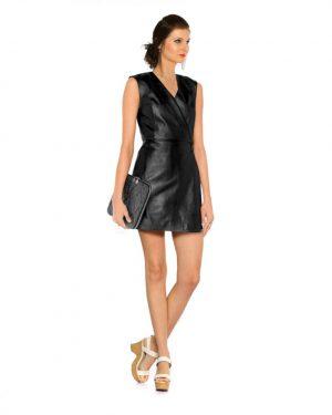 Sexy Black Wrap Dress for Women